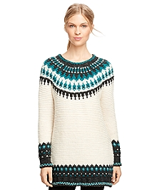 Wool Blend Fair Isle Sweater