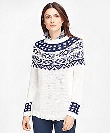 Supima® Cotton Fair Isle Sweater