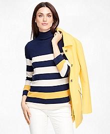 Cashmere Stripe Turtleneck
