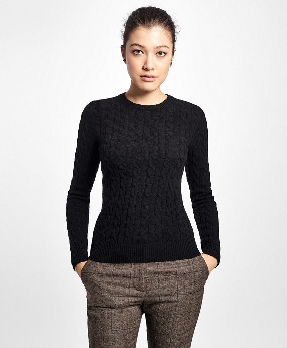 54980c3069 Cashmere Cable Crewneck Sweater - Brooks Brothers