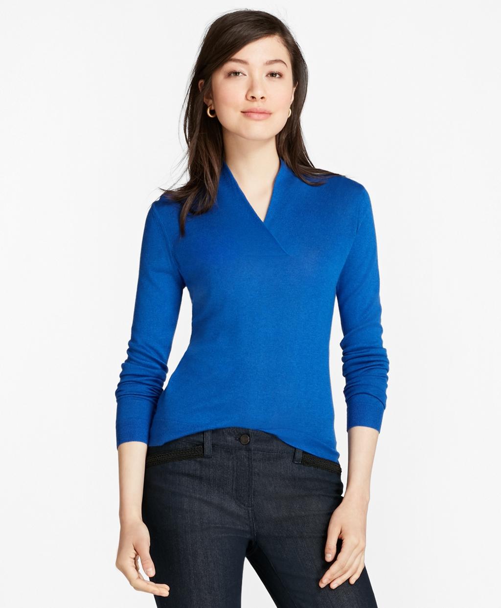 084cc8539 Silk-Cashmere Shawl-Collar Sweater - BB AU Ecommerce