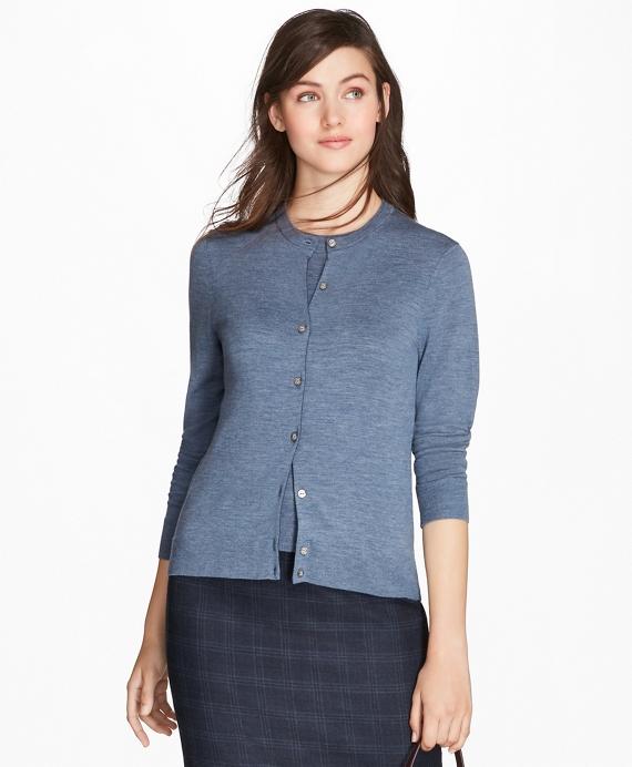 Saxxon™ Wool Cardigan Blue