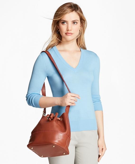 Saxxon™ Wool V-Neck Sweater Blue