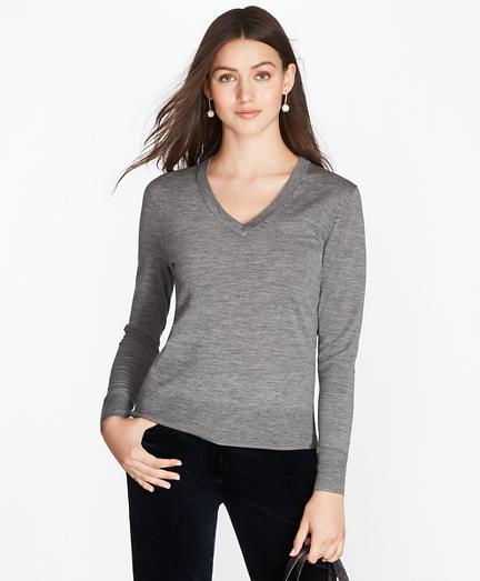 Saxxon™ Wool V-Neck Sweater