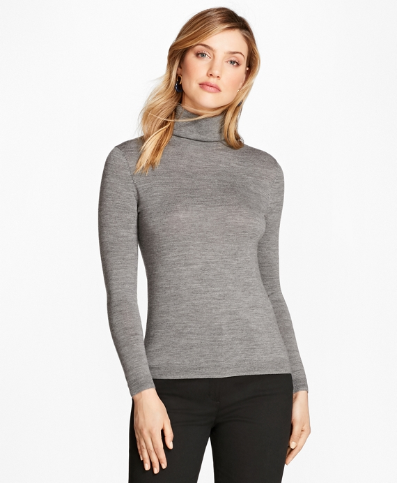 Saxxon™ Wool Turtleneck Sweater Grey
