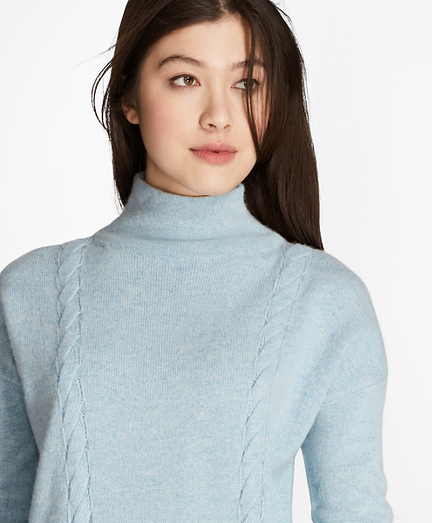Wool-Yak-Cashmere Cable-Knit Sweater