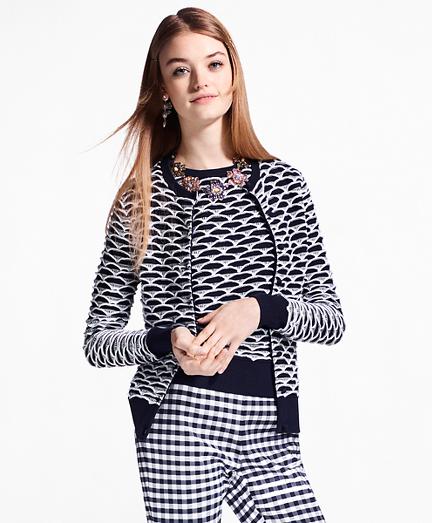 Geometric Cotton Cardigan