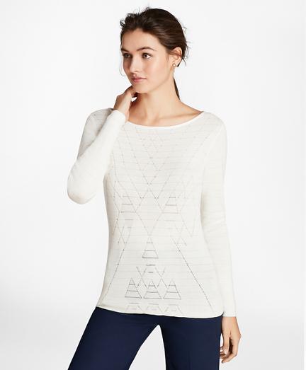 Argyle Cotton-Blend Sweater