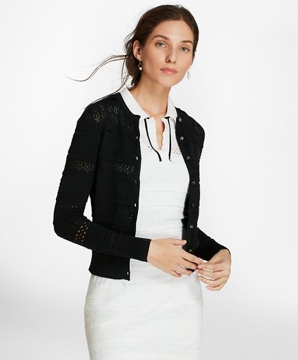 Pointelle Supima® Cotton Cardigan