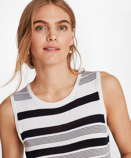Striped Supima® Cotton Shell