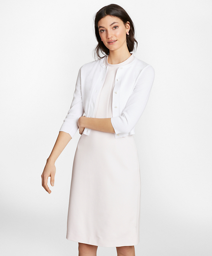 Supima® Cotton Cropped Cardigan