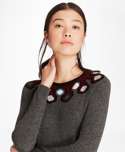 Geometric-Pattern Cashmere Sweater