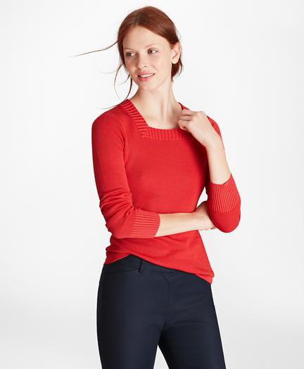 Milano-Knit Square-Neck Sweater