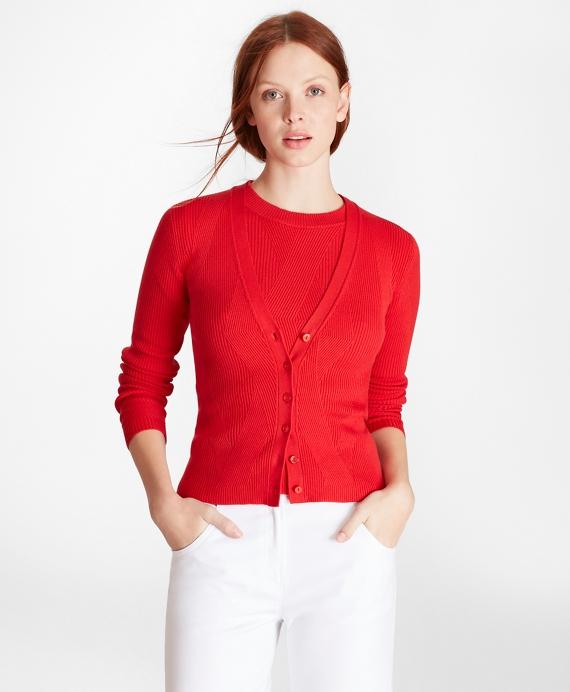 Diamond Knit Supima® Cotton Cardigan