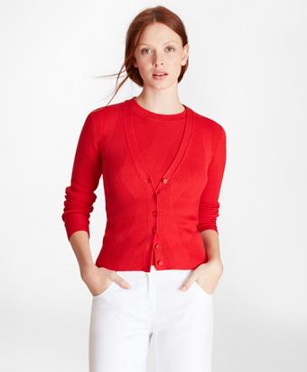 Diamond-Knit Supima® Cotton Cardigan