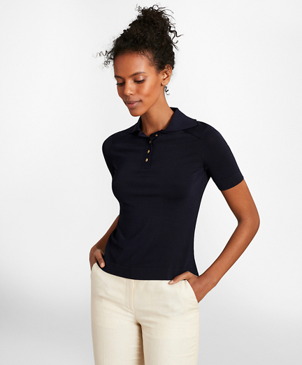 Lightweight Polo Sweater