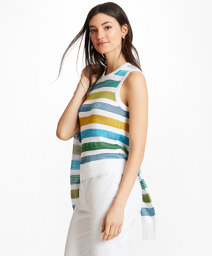 Striped Supima® Cotton-Blend Shell