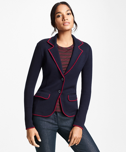 Knit Merino Wool Rowing Blazer