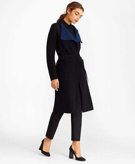 Merino Wool Wrap Coat