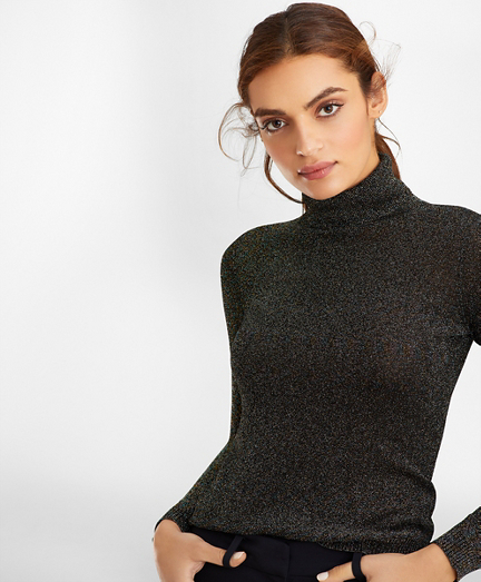 Sparkle-Knit Turtleneck