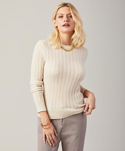 Chain-Stitch Cashmere Sweater