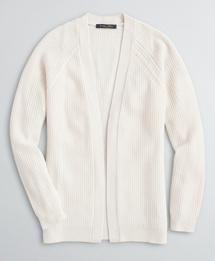 Cable-Knit Cashmere Open Cardigan
