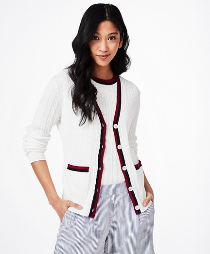 Supima® Cotton Tennis Cardigan