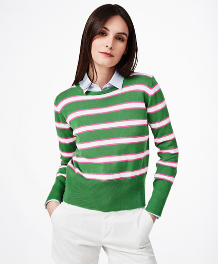 BB#2-Stripe Supima® Cotton Sweater