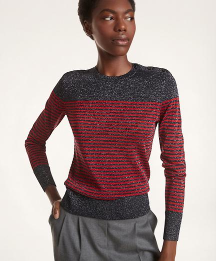 Mariner Stripe Metallic Sweater