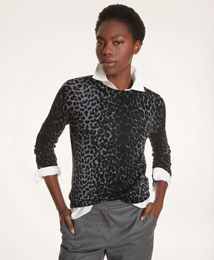 Merino Leopard Print Sweater