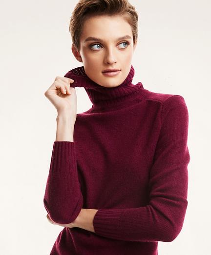 Cashmere Knit Turtleneck Sweater
