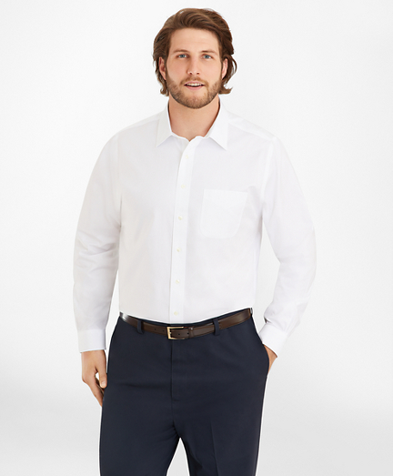 Big & Tall Dress Shirt, Non-Iron Spread Collar