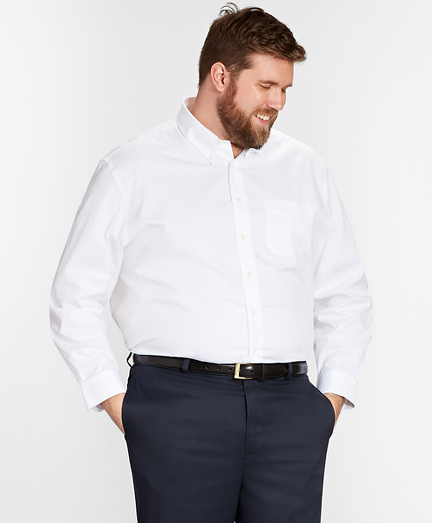 Big & Tall Dress Shirt, Non-Iron Button-Down Collar
