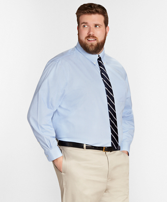 Big & Tall Dress Shirt, Non-Iron Houndstooth