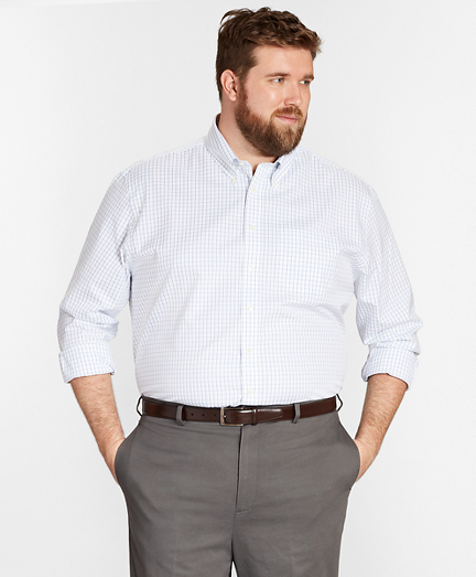 Big & Tall Dress Shirt, Non-Iron Windowpane