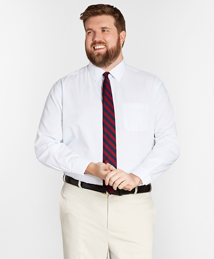 Big & Tall Dress Shirt, Non-Iron Graph Check