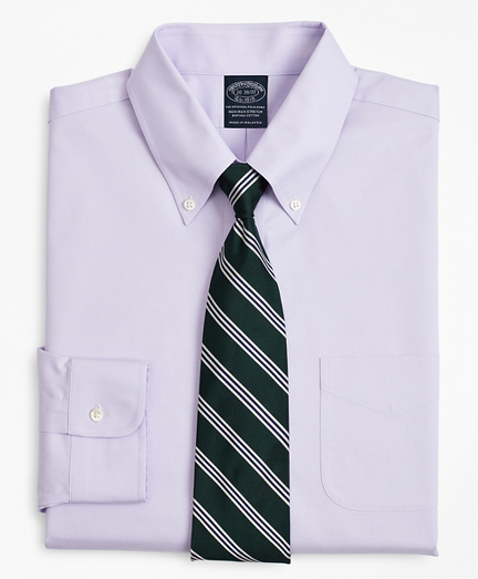 Stretch Big & Tall Dress Shirt, Non-Iron Pinpoint Button-Down Collar