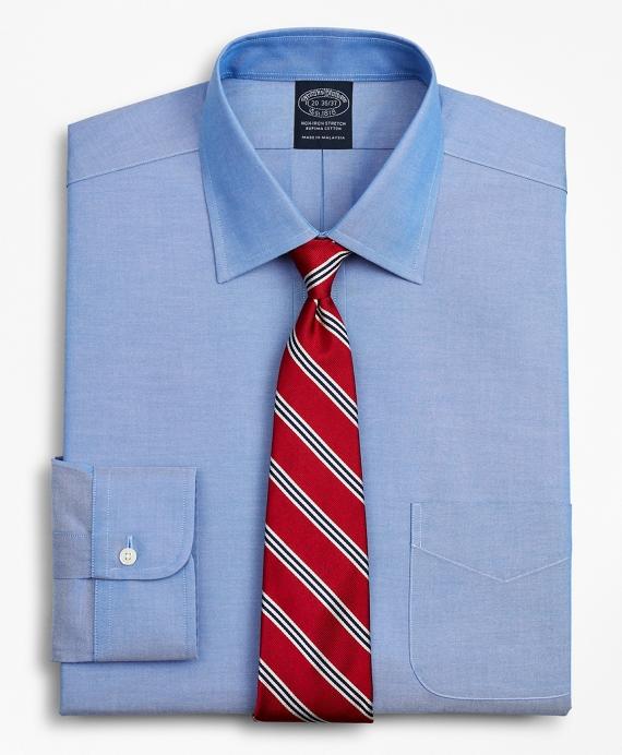 Stretch Big & Tall Dress Shirt, Non-Iron Pinpoint Ainsley Collar Blue
