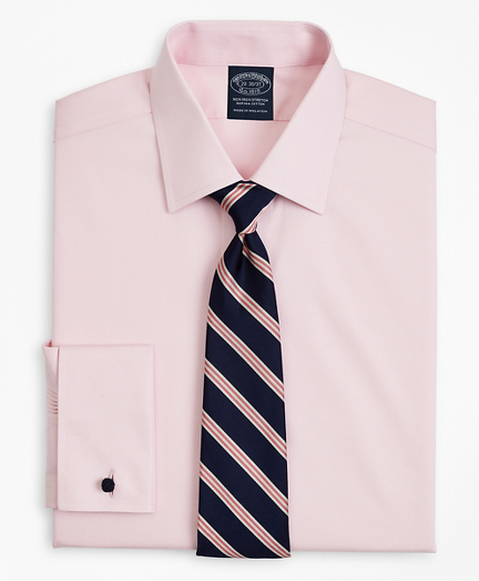 Stretch Big & Tall Dress Shirt, Non-Iron Pinpoint Ainsley Collar