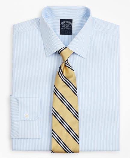 Stretch Big & Tall Dress Shirt, Non-Iron Poplin Ainsley Collar Fine Stripe