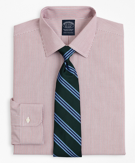 Stretch Big & Tall Dress Shirt, Non-Iron Poplin Ainsley Collar Fine Stripe