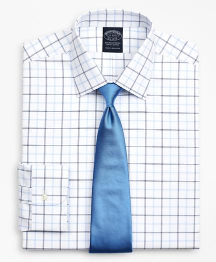 Stretch Big & Tall Dress Shirt, Non-Iron Poplin Ainsley Collar Double-Grid Check