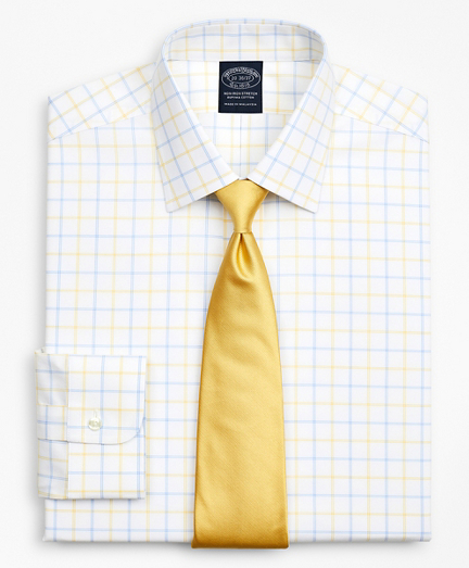 Stretch Big & Tall Dress Shirt, Non-Iron Poplin Ainsley Collar Double-Grid Check