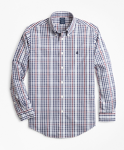Non-Iron Big & Tall Multi-Gingham Sport Shirt