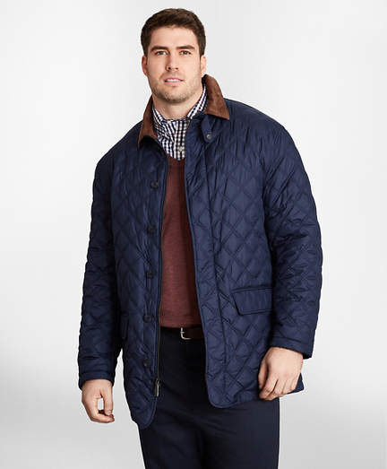 Big & Tall Diamond Quilted Jacket