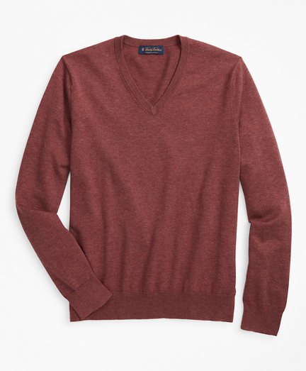 Big & Tall Supima® Cotton V-Neck Sweater