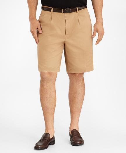 Big & Tall Pleat Front Stretch Advantage Chino Shorts