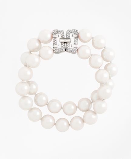 Double-Strand Glass Pearl Bracelet