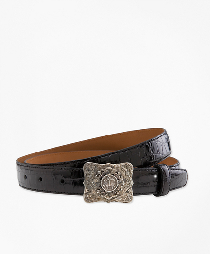 Alligator Belt with Sterling Buckle
