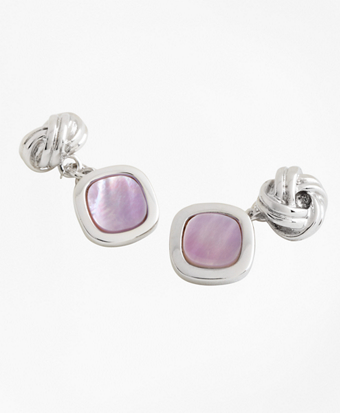 Silver Knot and Square Cuff Links